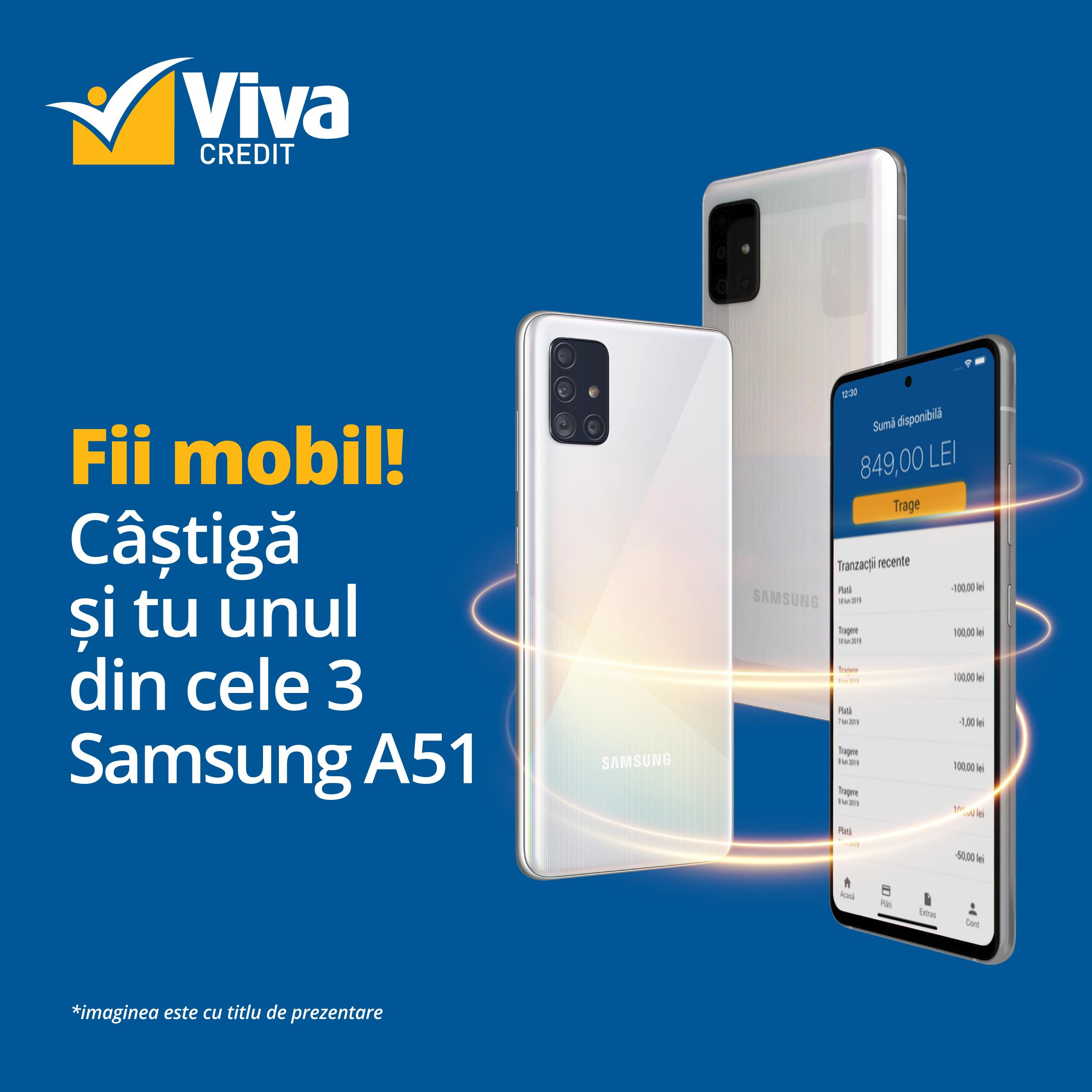 viva credit, concurs, fii mobil, aplicatie mobila, credit online